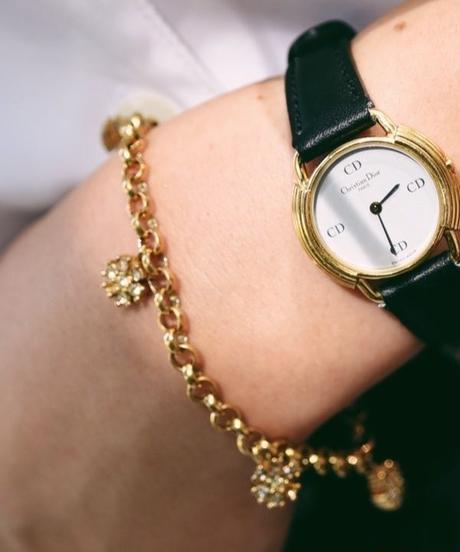 DIOR/flower gold  bracelet