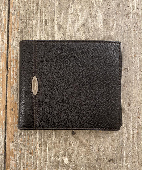 SalvatoreFerragamo/ Vintage black leather wallet.(U)