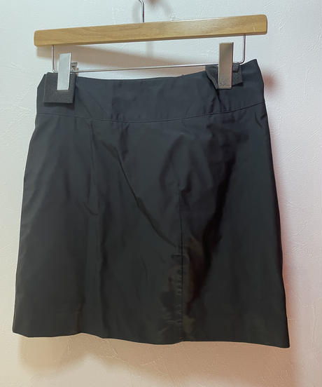 JIL SANDER/vintage black color simple skirt.