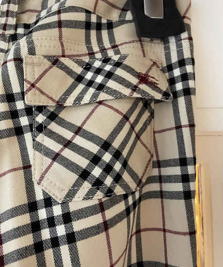 Burberry /vintage nova check pants.(U)