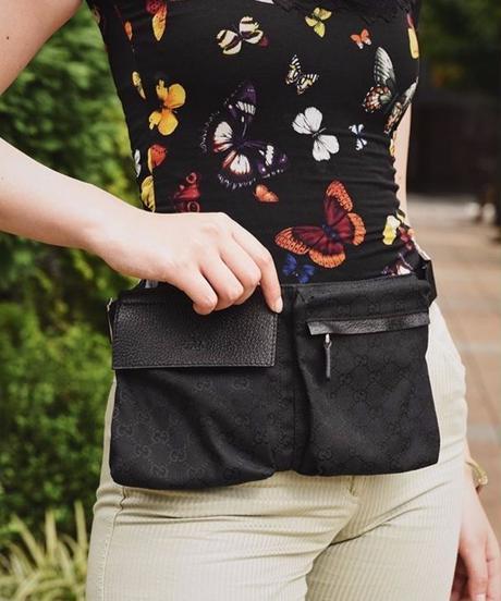 GUCCI/ monogram waist bag.