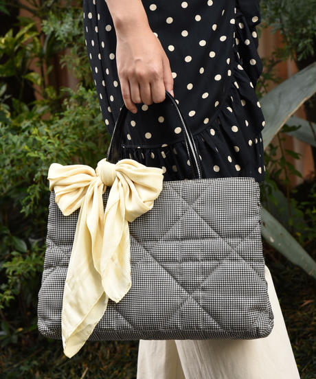 Christian Dior/Staggered pattern hand bag.