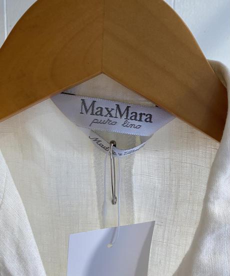 Maxmara  / linen double breasted waist coat.