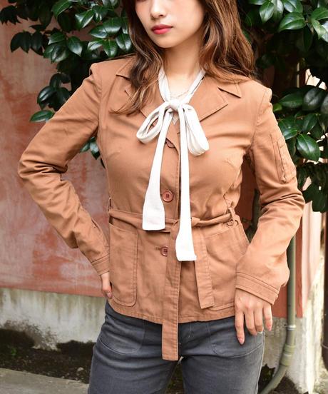miumiu/ waist ribbon jacket