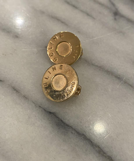 CELINE/ vintage gold earring.