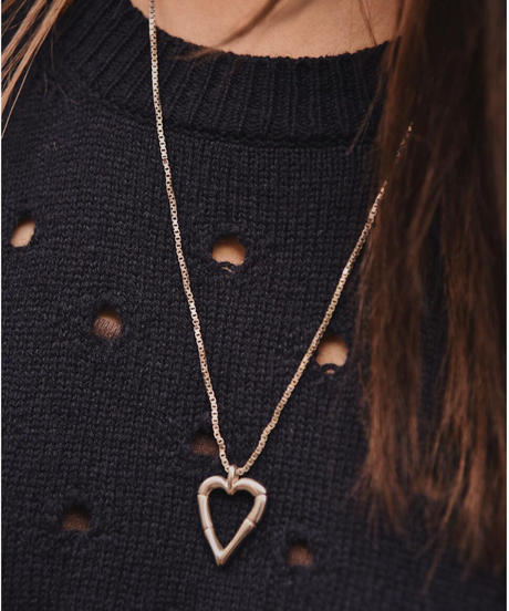 GUCCI/bamboo heart necklace.