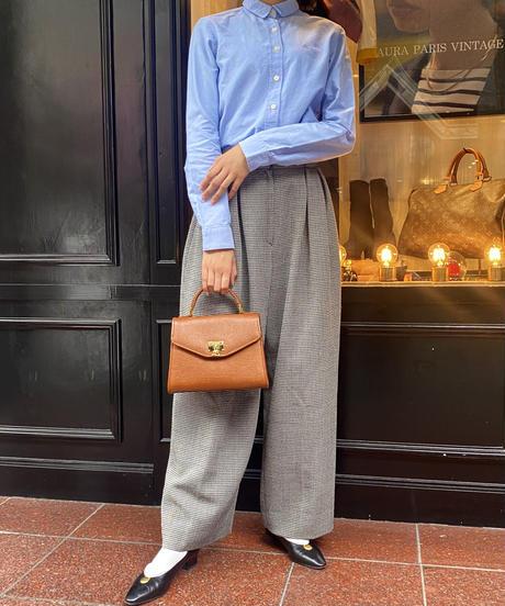 Courreges/vintage  leather brown 2way  bag.
