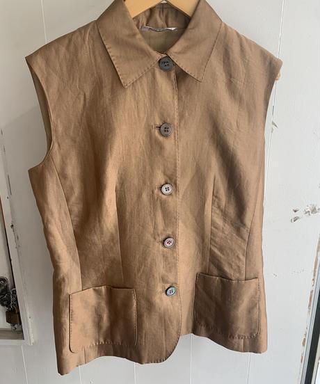 Maxmara  / vintage no sleeves vest jacket.