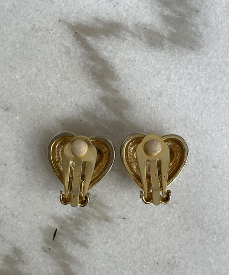 MOSCHINO / vintage heart motif earring.