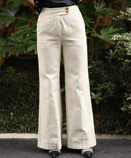 Vivienne Westwood/cotton flare denim pants.