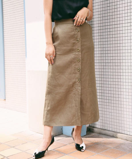 MAXMARA/linen long skirt