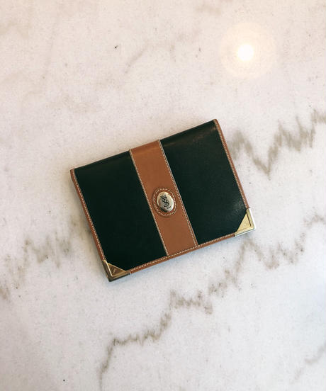 YvesSaintLaurent/ bi-color mini wallet.