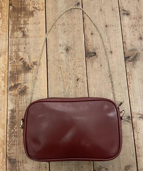Cartier / vintage mustline design gold chain shoulder bag.(U)