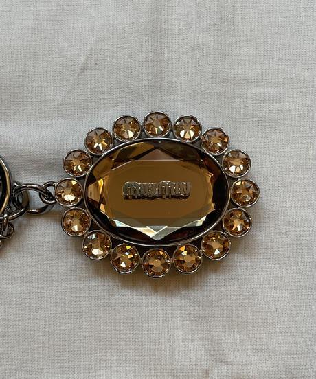 miu miu/vintage flowermotif key ring.
