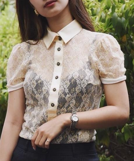 Dolce&Gabbana/ lace flower print blouse