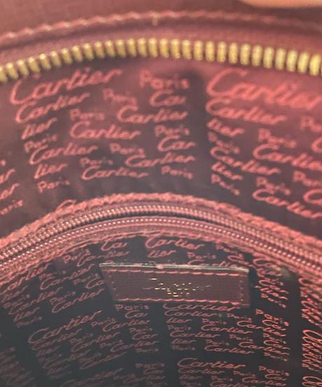 Cartier/vintage mustline PVC tote bag.  (2)