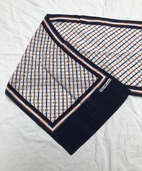 CELINE/vintage chain design scarf.