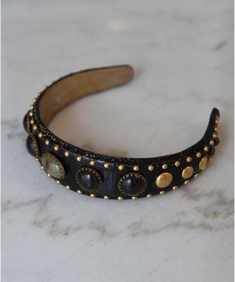 miumiu/ Stones&studs headband