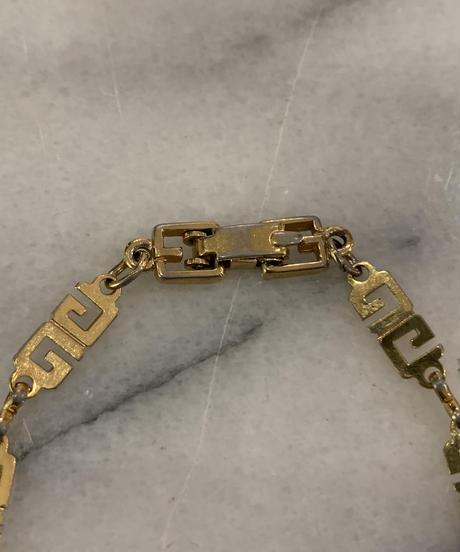 GIVENCHY/ vintage 'G' logo design chain  bracelet
