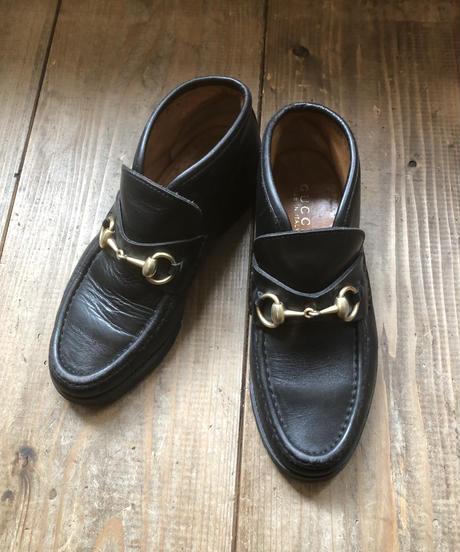 GUCCI/ vintage leather horse bit  loafer.