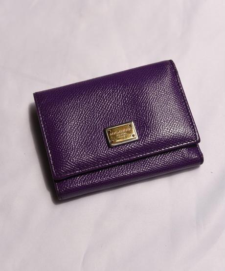 Dolce&Gabbana / vintage leather plate logo  wallet.