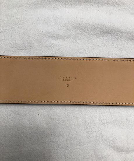 CELINE/ vintage straw design belt.