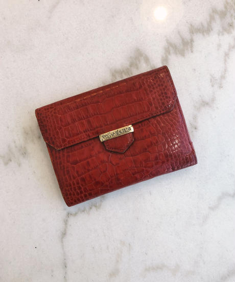 YvesSaintLaurent/ vintage crocodile leather wallet.