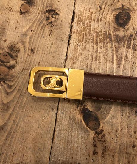 CELINE/ buckle gold belt