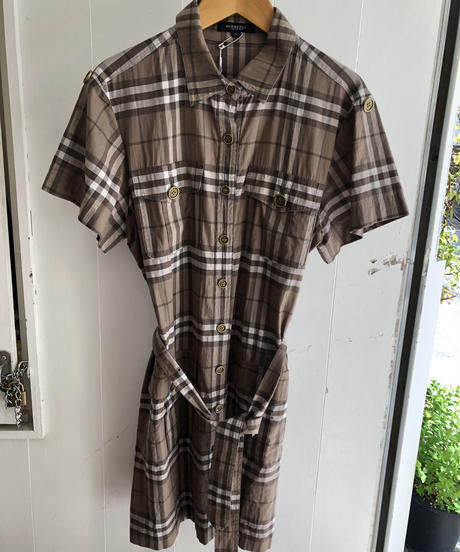 BURBERRY/ nova check  belt one-piece .
