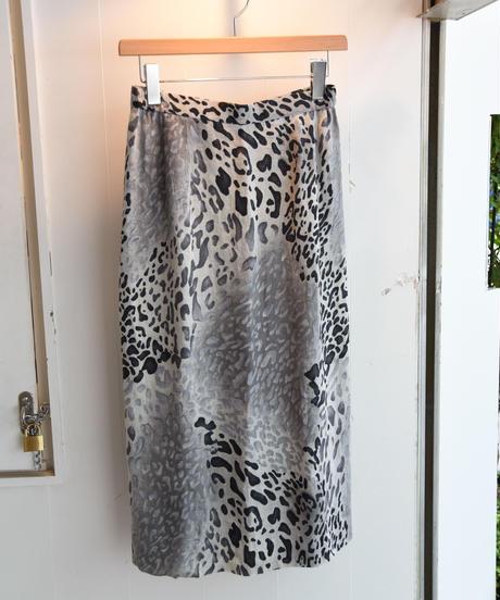 KENZO/ leopard linen skirt
