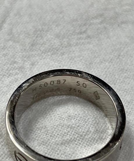 "Cartier/vintage ""LOVE"" ring."
