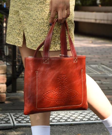 Vivienne Westwood /  leather square orb handbag.