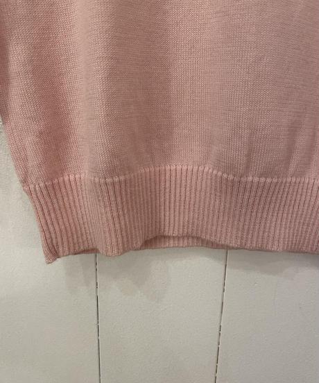 courreges / logo design v neck knit.