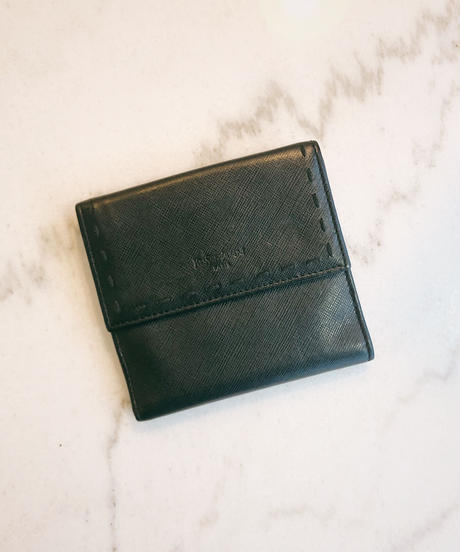 YvesSaintLaurent/ vintage leather stitch wallet