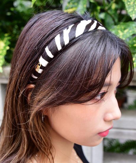 ferragamo/gantini zebra pattern head band