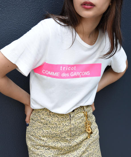 tricot COMME des GARCONS / front logo Tee.