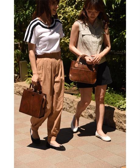 ETRO / vintage paisley×tortoiseshell handbag.