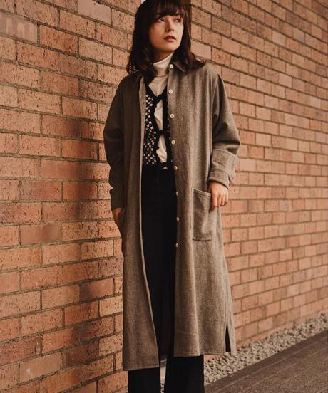 agnes.b / vintage wool yoke switching coat.