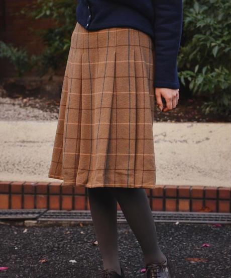 Burberry/vintage  check skirt.