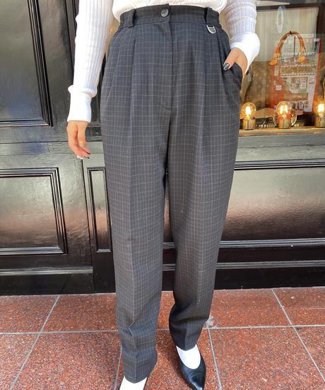 Chloe  / vintage check  wide pants.