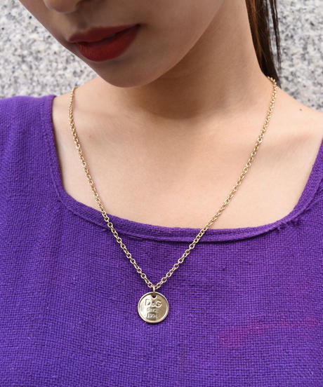 D&G / Gold logo plate necklace