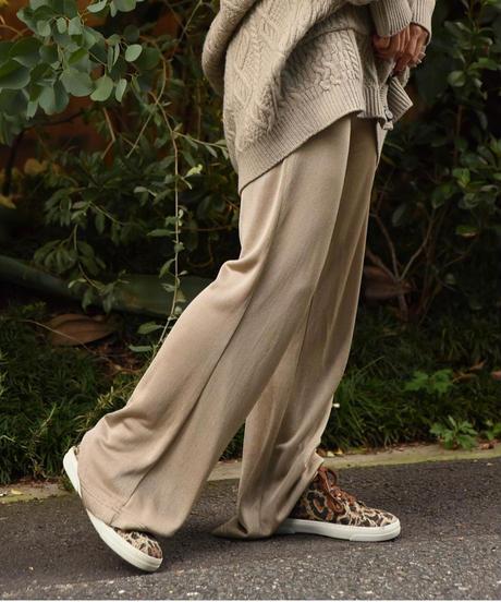 LOEWE/ vintage rayon beige pants.
