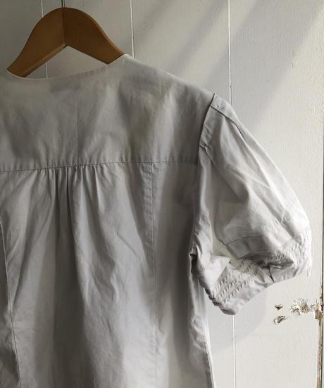 miu miu / short puff sleeve blouse.