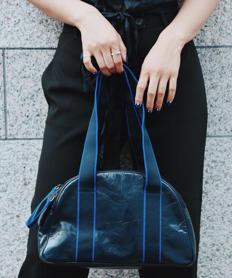miumiu/ sporty mix leather round handbag