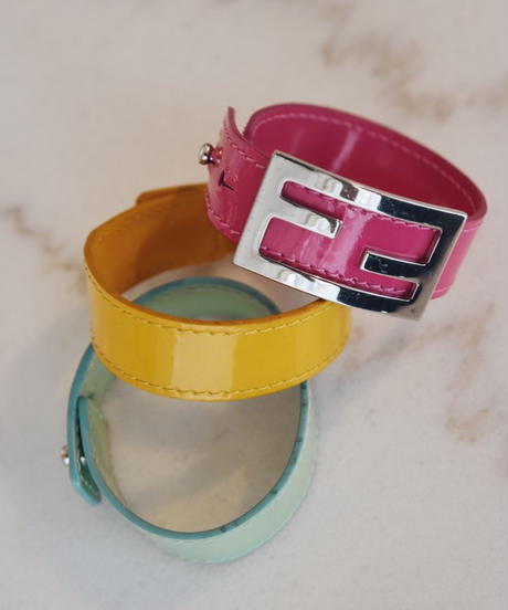 FENDI/ 3color change belt bracelet