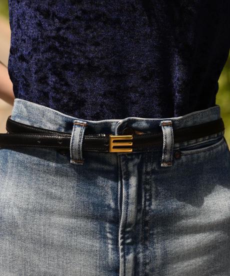 ETRO/vintage logo leather belt.