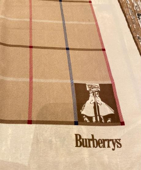 Burberry/ vintage  check brown scarf.
