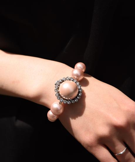 miu miu/ vintage pearl design bracelet.