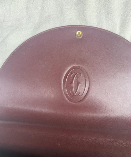 Cartier / vintage mustline C logo design bag.(U)