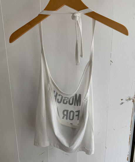 MOSCHINO / halter neck letter top.